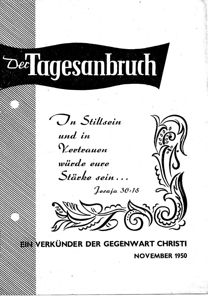 """Cover der Erstausgabe der Zeitschrift """"Der Tagesanbruch"""""""